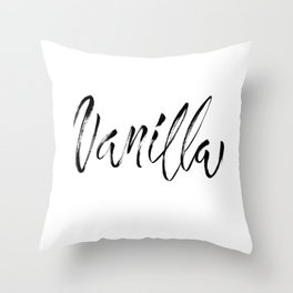 Vanilla Brush Lettering Throw Pillow