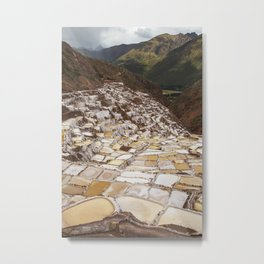 Salina de Maras in Sacred Valley Peru Metal Print