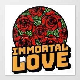 Immortal love rose witj thorns Canvas Print