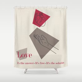 Love: Classic Shower Curtain
