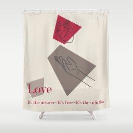 Love: Classic Shower Curtain