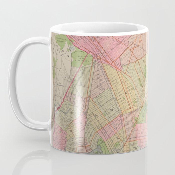 Vintage Map of Brooklyn NY (1896) Coffee Mug
