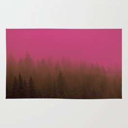 Pink & Chocolate Taffy Fog - Seward, Alaska Rug