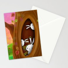 Bunny tree Stationery Cards