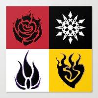 rwby Canvas Prints featuring RWBY symbols. by Noah Kay