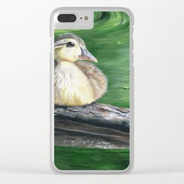 The Wood Duckling by Teresa Thompson Clear iPhone Case