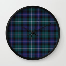 Holiday Tartan Plaid Wall Clock