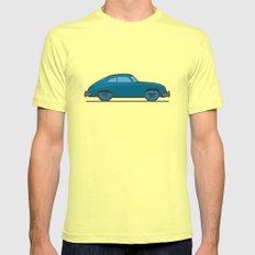 #18 Porsche 356 Mens Fitted Tee Lemon LARGE