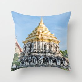 Wat Chiang Man I, Chiang Mai, Thailand Throw Pillow