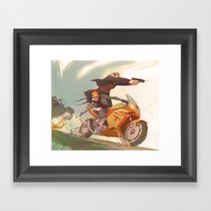 Agent Calvin and Hobbes: The Worlds a Playground Framed Art Print