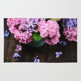 Beautiful hydrangea flowers Rug