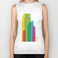 fargo Biker Tanks featuring Shapes of Minneapolis by Glen Gould