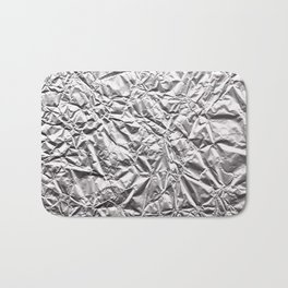 Silver Paper Bath Mat