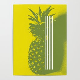 Pineapple #bright #yellow #deco Poster
