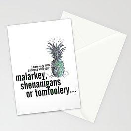 Malarkey, Shenanigans & Tomfoolery - Psych Stationery Cards