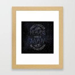 Psalm 8 Framed Art Print