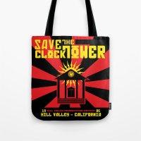 propaganda Tote Bags featuring Clocktower Propaganda by DGN Graphix
