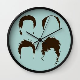 Seinfeld Hair Square Wall Clock