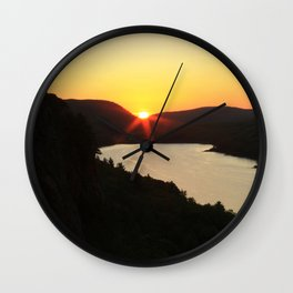 Sunrise over Lake of the Clouds Wall Clock