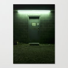 Auto Shop Door, Shrewsbury, WV Canvas Print