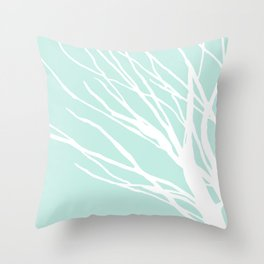 Aqua Blues Throw Pillow