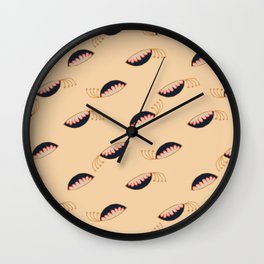 Funky Vintage Floral // Peapods + Stamen // Winking Eyes with Lashes Wall Clock