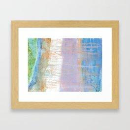 Get beached Framed Art Print