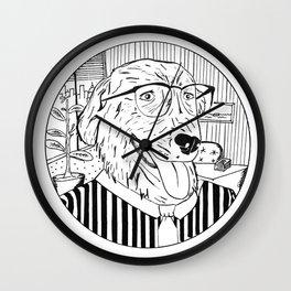 Wall Street Dog Wall Clock