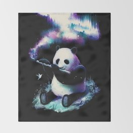 Music Is My Universe Throw Blanket