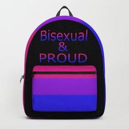 Bisexual and Proud (black bg) Backpack