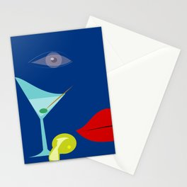 Cocktail Martini Stationery Cards