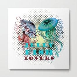 JellyFish Lovers Metal Print