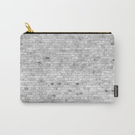 White Washed Brick Wall - Light White and Grey Wash Stone Brick Carry-All Pouch