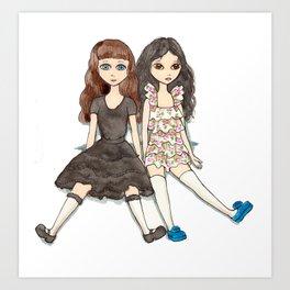 Marissa and Karissa Art Print