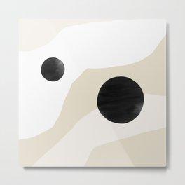 Linen Desert Metal Print