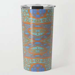 Orange and blue abstract pattern in eastern style Travel Mug