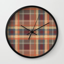 Beautiful brown orange cage . Wall Clock