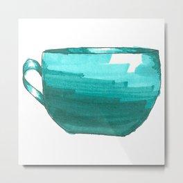 teal coffee mug Metal Print