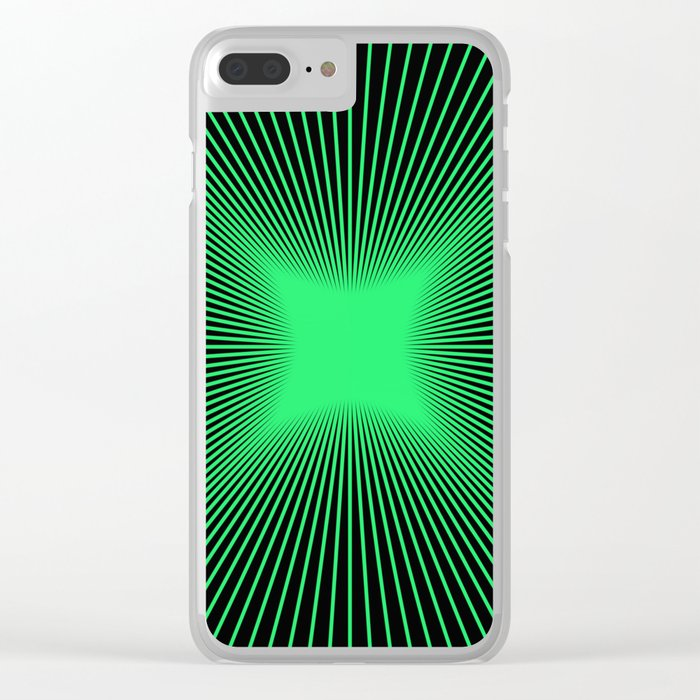 The Emerald Illusion Clear iPhone Case