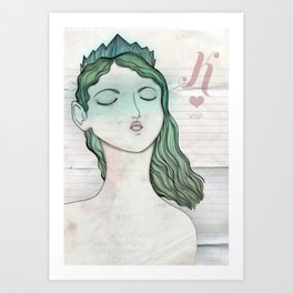 Reina de Corazones Art Print