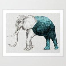 The Stone Elephant Art Print