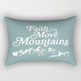 Retro Faith can Move Mountains Rectangular Pillow