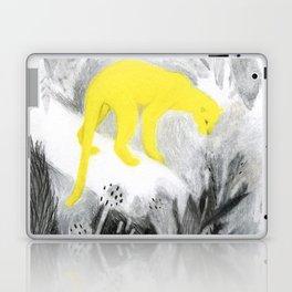 Yellow Panther Laptop & iPad Skin