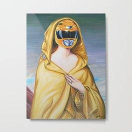 Portrait Of A Yellow Ranger Metal Print