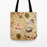 shabby chic Tote Bags featuring Shabby Chic by Diego Tirigall