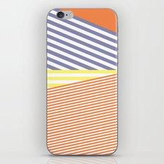 Orange Crush Lines iPhone Skin
