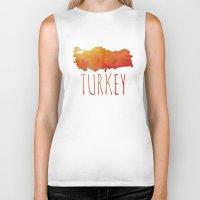 turkey Biker Tanks featuring Turkey by Stephanie Wittenburg