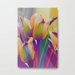 Vintage tulips (7) Metal Print