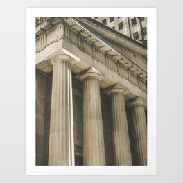 Federal Hall, New York photography, architecture, building, Hasselblad, Fine art Art Print