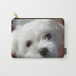 Cute Maltese asking for a treat Carry-All Pouch